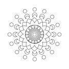 Round graphic, geometric decorative, mandalas or henna design in vector. by ikshvaku