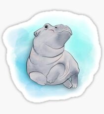 Fiona the Baby Hippo Swimming Sticker