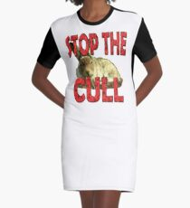 STOP THE HARE CULL Graphic T-Shirt Dress