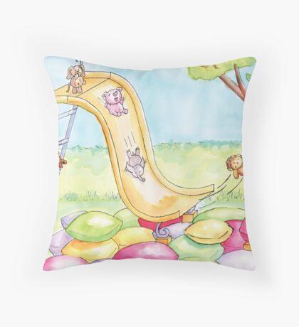 Baby Animal Slide Throw Pillow