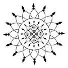 Graphic, geometric decorative, mandalas or henna design in vector. by ikshvaku