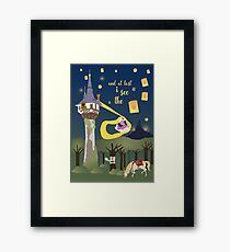And at last... i see the light Framed Print