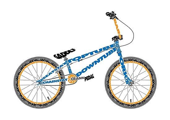 Anatomy Of A Bmx Bike Photographic Prints By Jarodface Redbubble