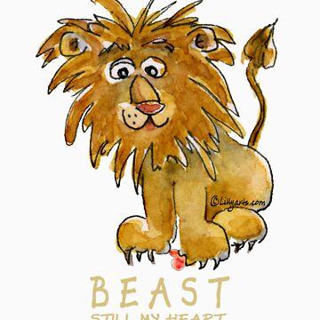 Beast Still My Heart Cartoon Lion Darks by Lillyarts