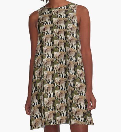 Kleines Lamm A-Linien Kleid