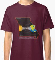 2017 Solar Eclipse Geometry Across Missouri State Map Illustration Classic T-Shirt