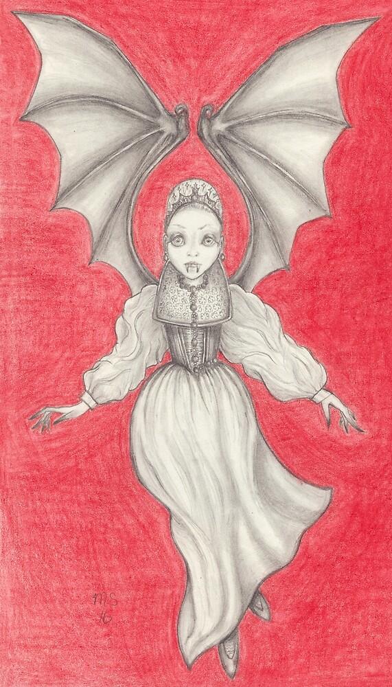 Elizabeth Bathory (as a vampire) by PixlPixi