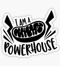 "Mitochondria ""I am a Powerhouse"" Sticker"