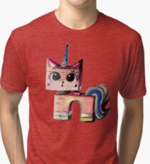 Unikitty Colored Pencil Drawing Tri-blend T-Shirt