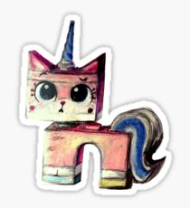 Unikitty Colored Pencil Drawing Sticker