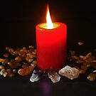 Burning candle by Evita