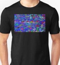 Saturated Flowers on Psychedelic Clouds T-Shirt