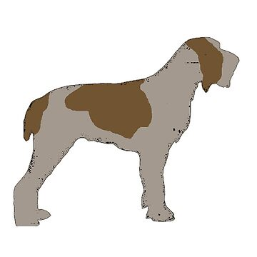 spinone italiano brown roan silhouette by marasdaughter