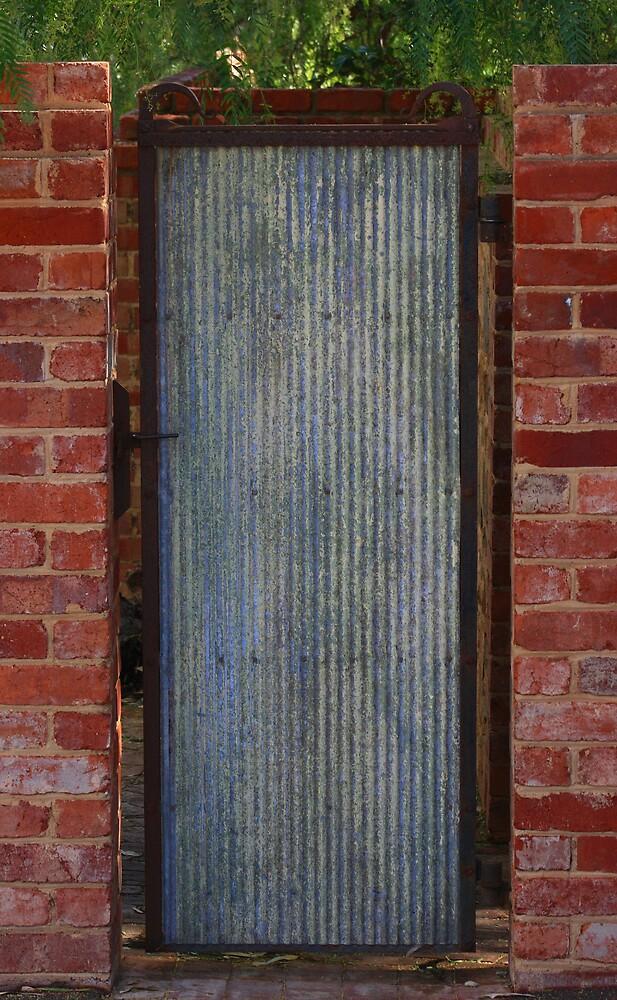 Corrugated Iron Gate by OzShell