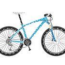 Typographical Anatomy of a Mountain Bike by jarodface