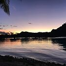 Bora Bora Sunset by Julie Masters