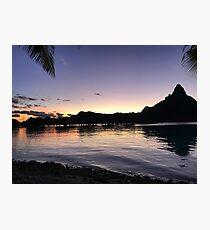 Bora Bora Sunset Photographic Print