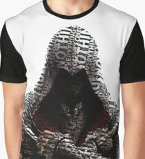 Ezio Assassin's Creed Typography Graphic T-Shirt