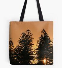 Dawn through Pines Tote Bag