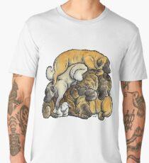 Sleeping pile of Estrela Mountain Dogs Men's Premium T-Shirt