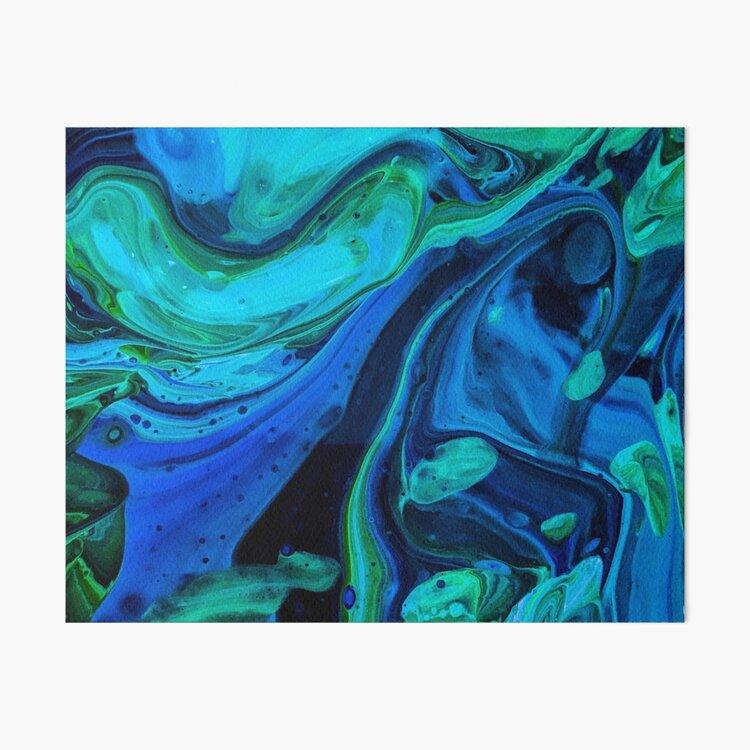 Blue Majesty Art Board Print