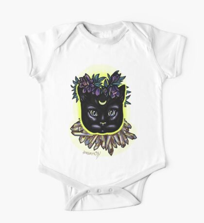 Crystal moon cat with hellebore. Kids Clothes