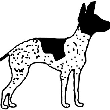 american hairless terrier color silhouette by marasdaughter