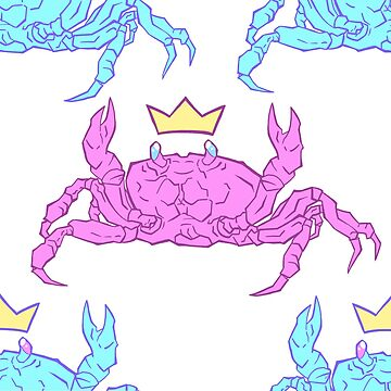 KING CRAB - Blue and Pink tile pattern by jlingard