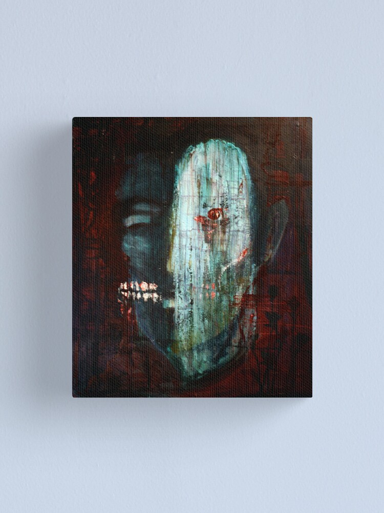 Alternate view of portrait of the killer Canvas Print