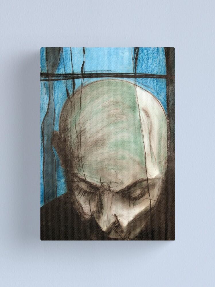 Alternate view of portrait of the Vampire Canvas Print