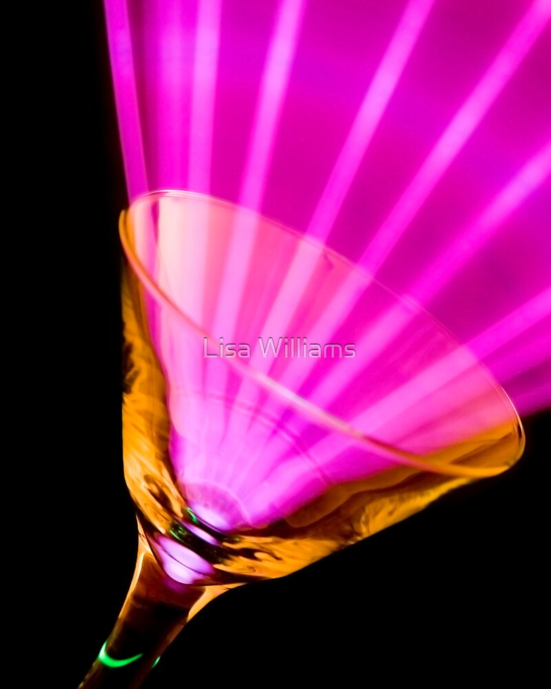 Pink Martini Glass by Lisa Williams
