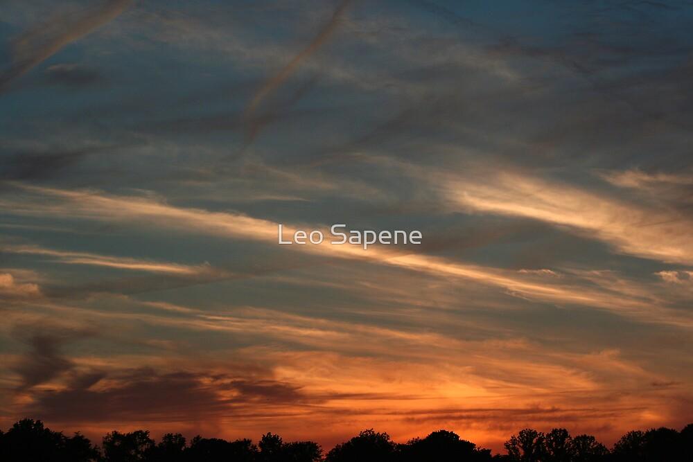 Dramatic sunset by Leo Sapene