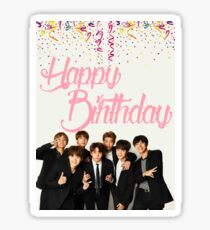 BTS Birthday Card Sticker