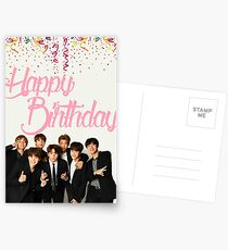 BTS Birthday Card Postcards