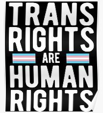 Trans Rights Are Human Rights T-Shirt Poster