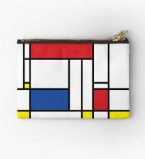 Mondrian Minimalist De Stijl Modern Art Zipper Pouch