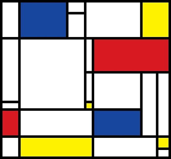 Quot Mondrian Minimalist De Stijl Modern Art Quot Posters By