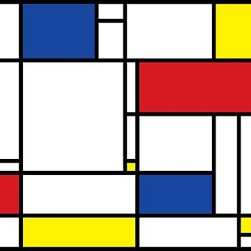 Mondrian Minimalist De Stijl Modern Art by fatfatin