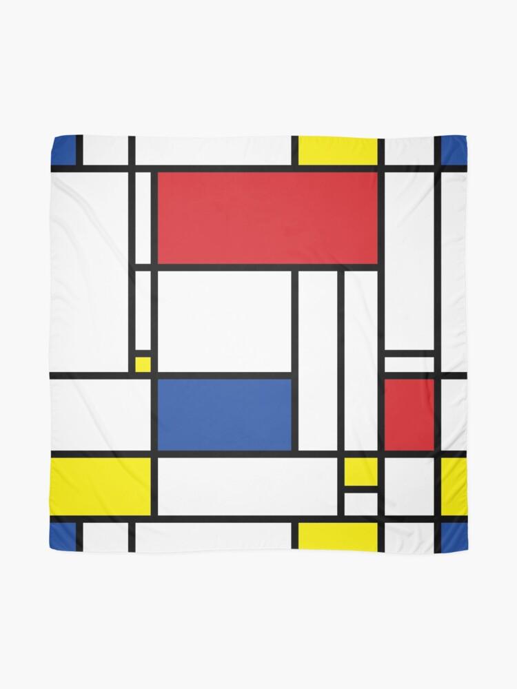 Alternate view of Mondrian Minimalist De Stijl Modern Art Scarf
