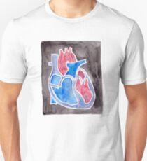 Watercolor Anatomical Heart T-Shirt