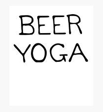 Beer Yoga Photographic Print