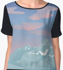 Sawtooth Fenceline Women's Chiffon Top