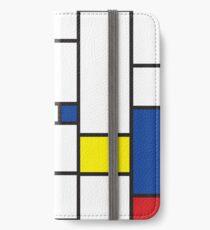 Mondrian Minimalist De Stijl Moderne Kunst II iPhone Flip-Case/Hülle/Skin
