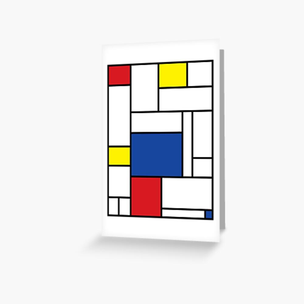 Mondrian Minimalist De Stijl Modern Art II Greeting Card