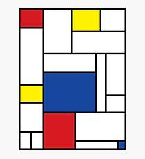 Mondrian Minimalist De Stijl Modern Art II Photographic Print