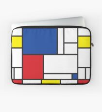 Mondrian Minimalist De Stijl Modern Art II Laptop Sleeve