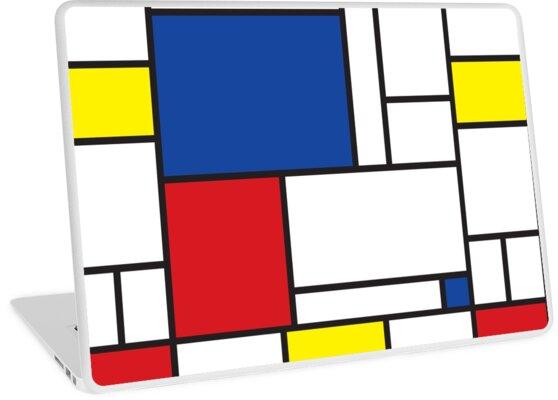 Mondrian Minimalist De Stijl Moderne Kunst II von fatfatin