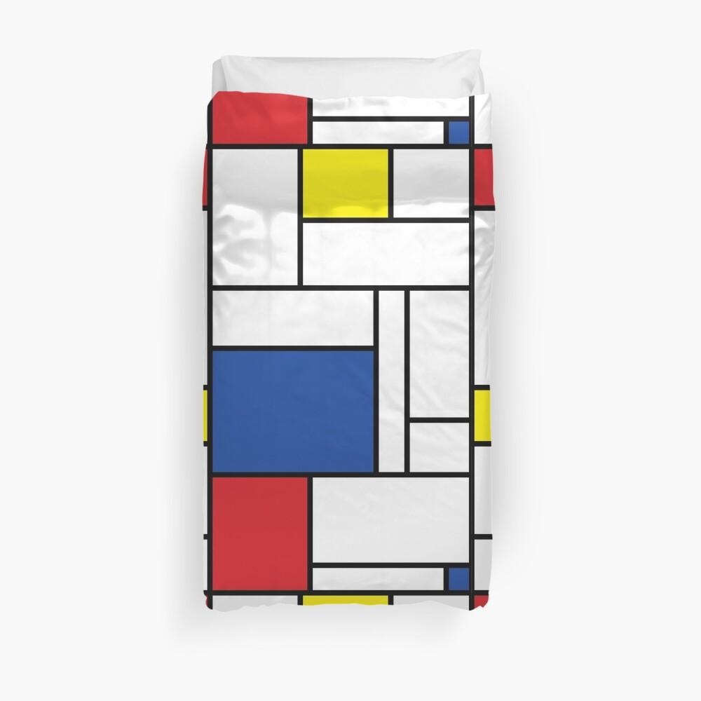 Mondrian Minimalist De Stijl Modern Art II Duvet Cover