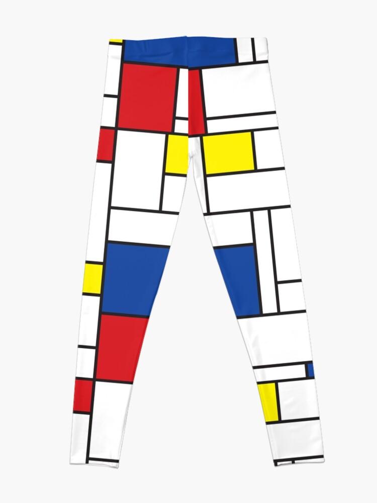 Alternate view of Mondrian Minimalist De Stijl Modern Art II Leggings
