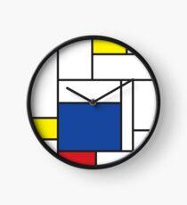 Mondrian Minimalist De Stijl Modern Art II Clock